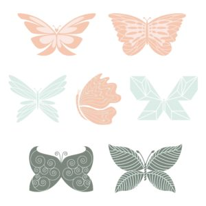 PNG Butterfly Elements for Design
