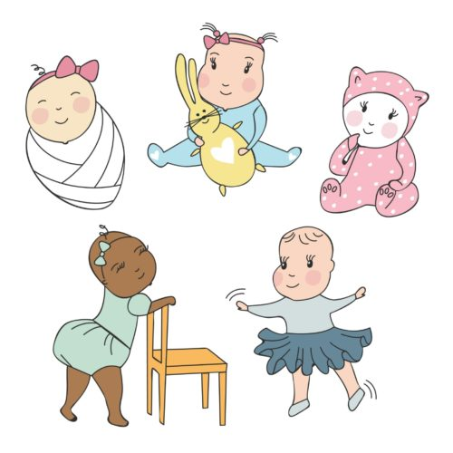 Baby Element Illustrations that can be instantly downloaded for designers
