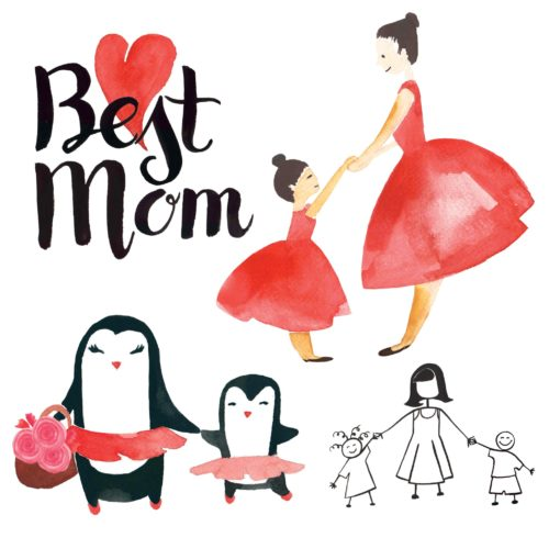 Mother's Day Elements for Designers