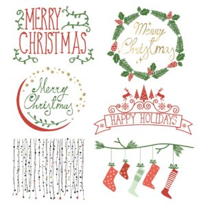 Christmas theme: digital scrapbooking elements