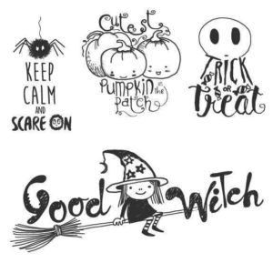 Halloween Word Art Overlays