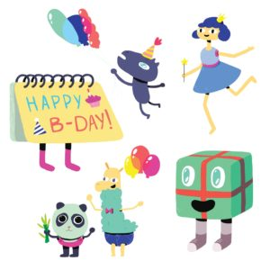 Birthday Clip Art for Scrapbooking