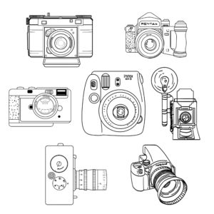 Photographer Camera Logo Collections
