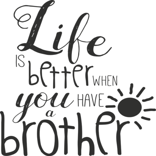 Little Brother Word Art