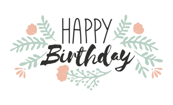 Happy Birthday Word art lettering design