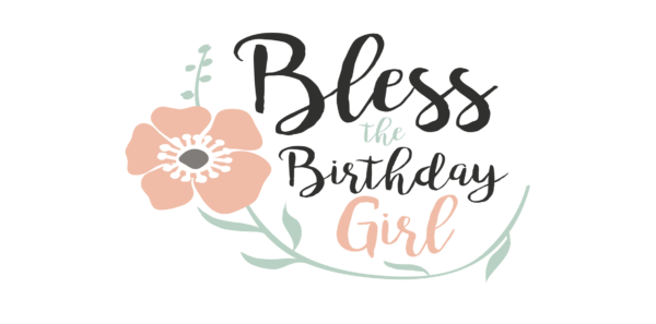 Birthday Girl Word Art PNG