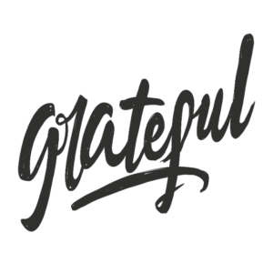 Grateful Word Art Lettering