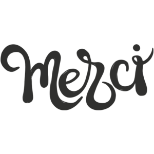 Merci word Art PNG