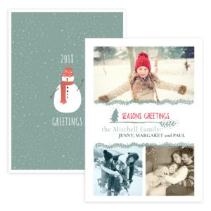 5X7 holiday greeting card template