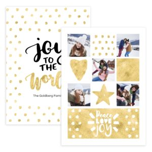 Peace love 5X7 Photo card template