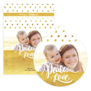 peace love luxe photo card template