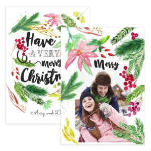 very merry christmas card template psd
