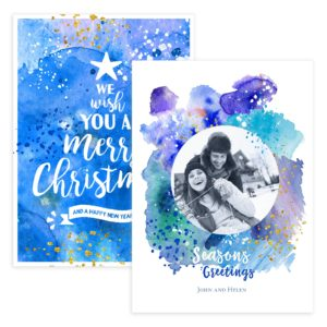 wish you a merry christmas card flat PSD