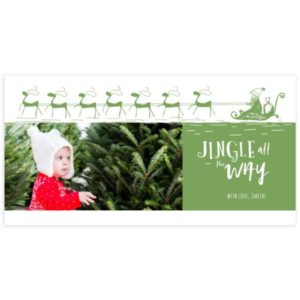 Holiday card Photoshop Template for Photographers