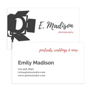 camera photography business card template