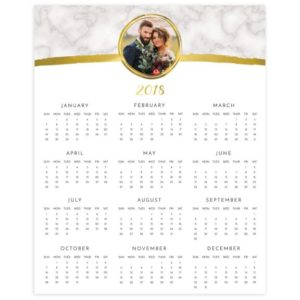 Calendar Template for Photographers