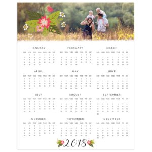 Floral Calendar Photoshop Template