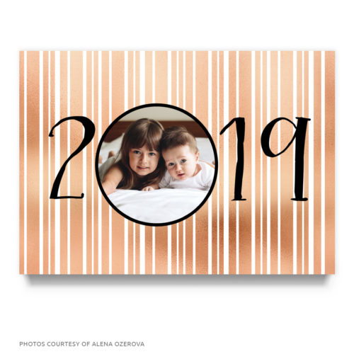 rosegold new years card template