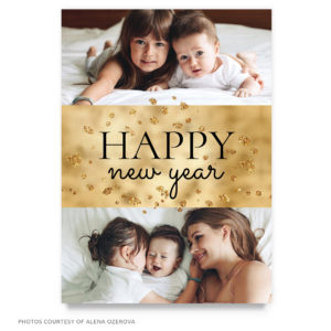 gold 2019 new year card template