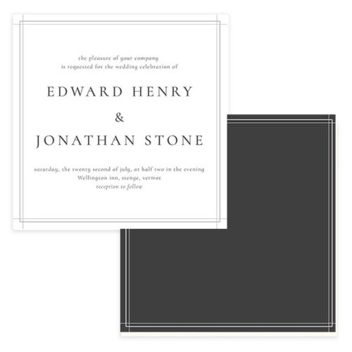 Classic Wedding Invitation Template in Photoshop Format