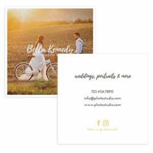Wedding Photography Business Card Template in PSD format