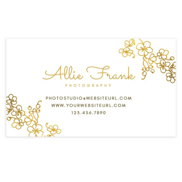 Golden accents photography business card photoshop templates photography business card template cheaphphosting Image collections