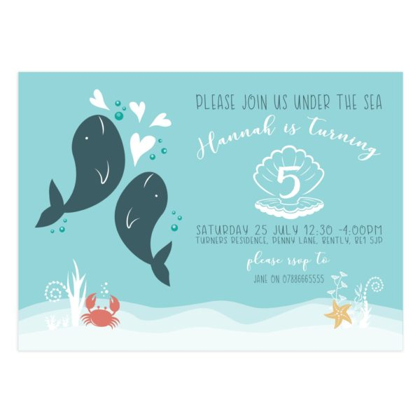 Under The Sea Birthday Party Invite Templates
