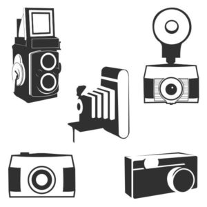 Camera logo overlays in PNG format for designers and photographers