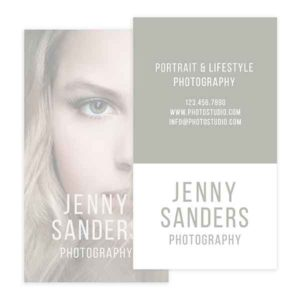 Vertical Photography Business Card Template