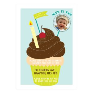 Cupcake Birthday Party Invitation Template