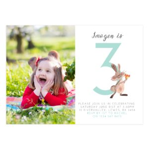Third Birthday Party Invitation Template for DIY Moms