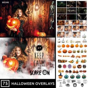 Halloween Photo Overlays Pack