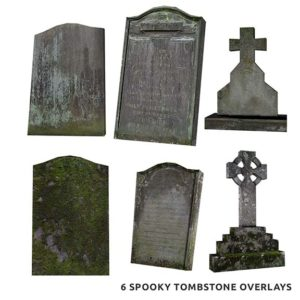 Tombstone Halloween Overlays