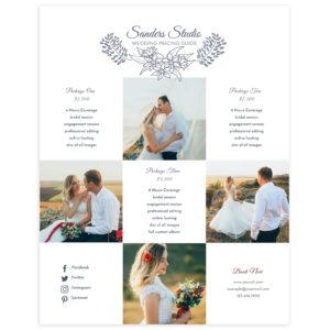 PSD Price Guide Template for Wedding Photographers