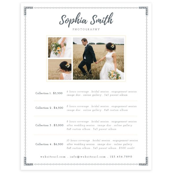 Wedding Photography Guide: Wedding Photography Price Sheet