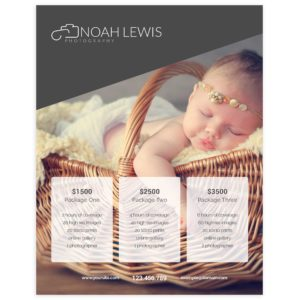 Newborn Photographer Price Guide Template in PSD Format