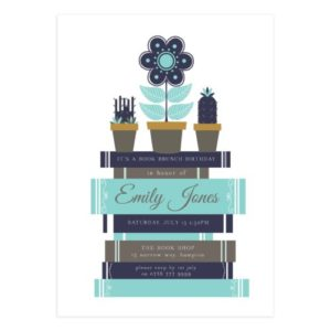 Book Birthday Party Card Invite Template