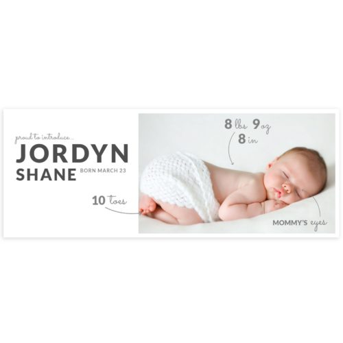 Newborn Portraits Facebook Cover Template in Photoshop