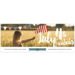 4th of July Mini Sessions Ad facebook cover