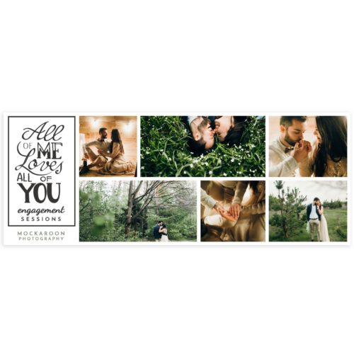 Engagement Facebook Cover Template in PSD