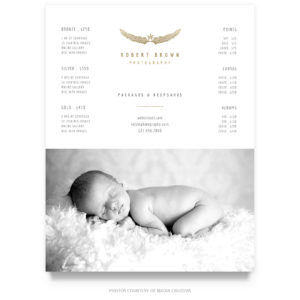 Photography Pricing List Template