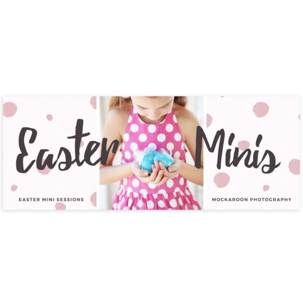 easter facebook cover with the mini session theme