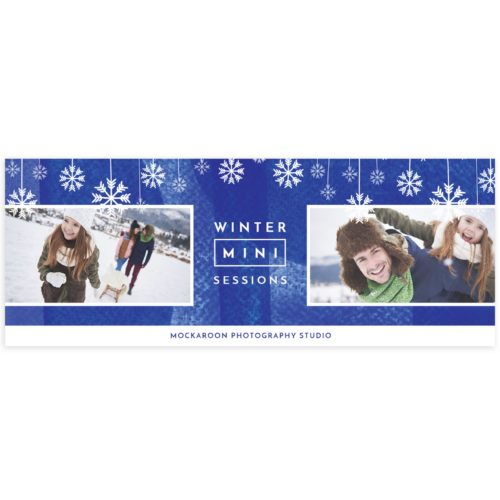 Winter Minis Facebook Cover Template for Photographers