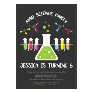 Printable Science Party Invite Template