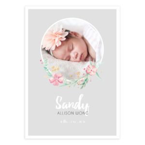 5X7 Newborn Floral Photoshop Template