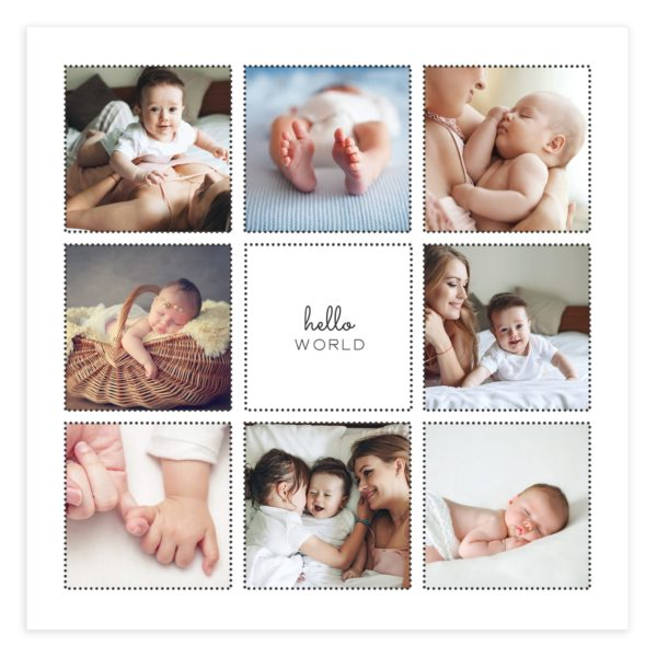 Newborn Album Template for Photographers in PSD Form