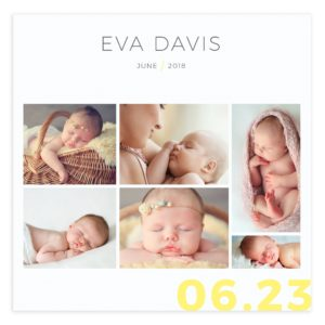 12 X12 PSD newborn book template