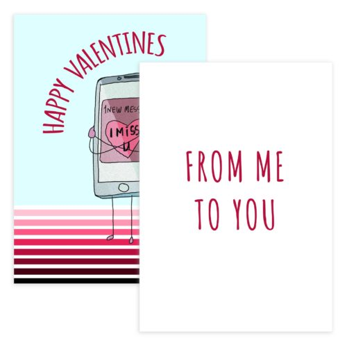 Valentines Day Card Template in Photoshop format