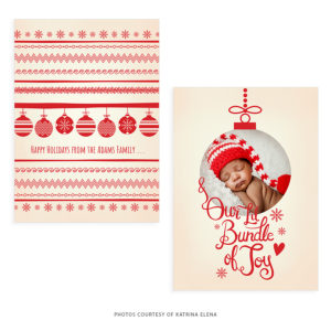 Joy Holiday Card Template for photographers