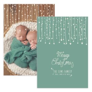 Newborn Gift Christmas Card Template for Photographers